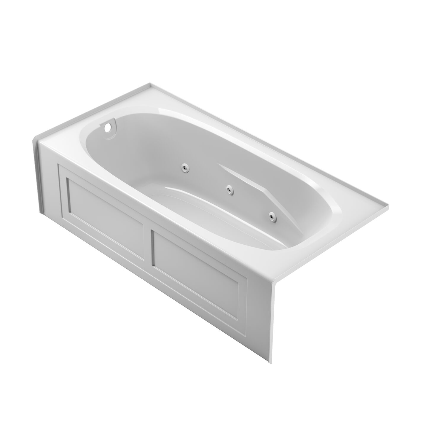 Rectangle with Armrest Skirted Soaker Tub