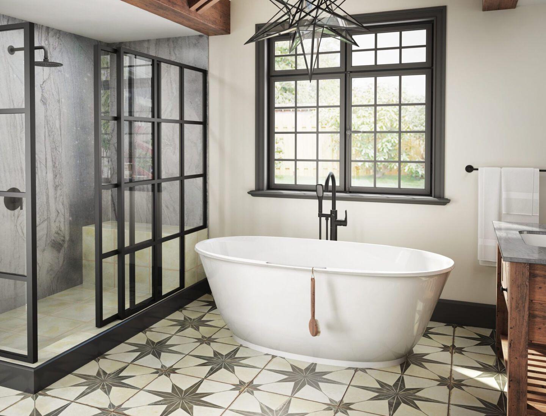 free-standing bath tub