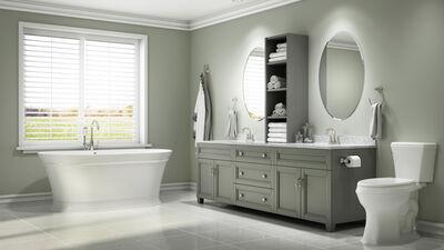 Single Door Oval Medicine Cabinet