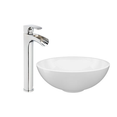 Jacuzzi® Vessel Bowl Sink with Vessel Filler Faucet