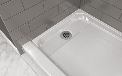 Shower Drain with Chrome Strainer