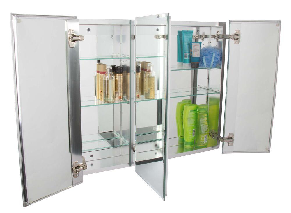 Triple Door Tri-View Medicine Cabinet