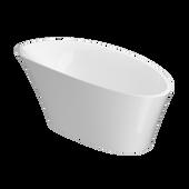 ROSALIA® Freestanding 6634 Bath White Gloss/Gloss