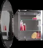 Single Door Round Medicine Cabinet