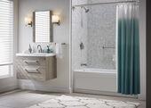Jacuzzi® Aluminum Curved Double Shower Curtain Rod