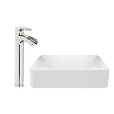 Jacuzzi® Vessel Rectangular Sink  Basin with Vessel Filler Faucet