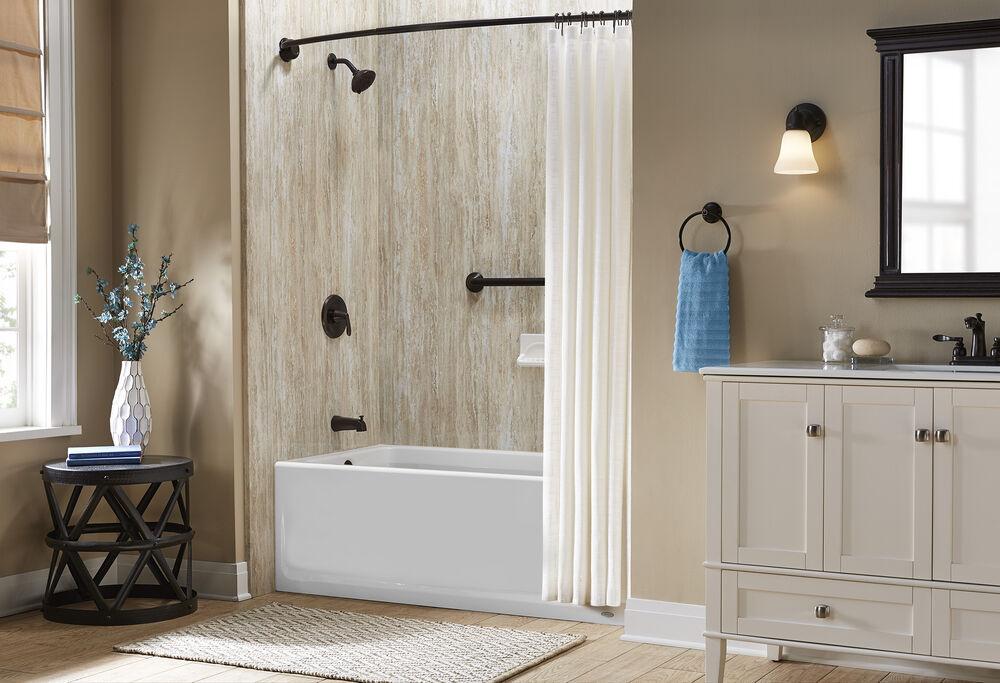Jacuzzi® Aluminum Curved Shower Curtain Rod