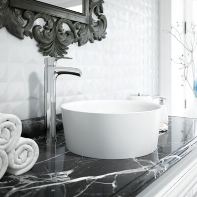 Jacuzzi® Round Vessel Sink with Vessel Filler Faucet