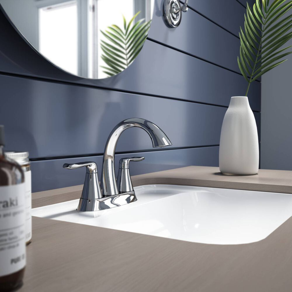 """4"""" Centerset Brushed Nickel Drain Assembly Included"""