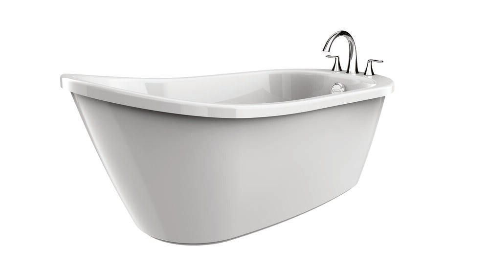 PICCOLO™ 5932 Freestanding Oval Bath White with MX22827 Chrome Faucet